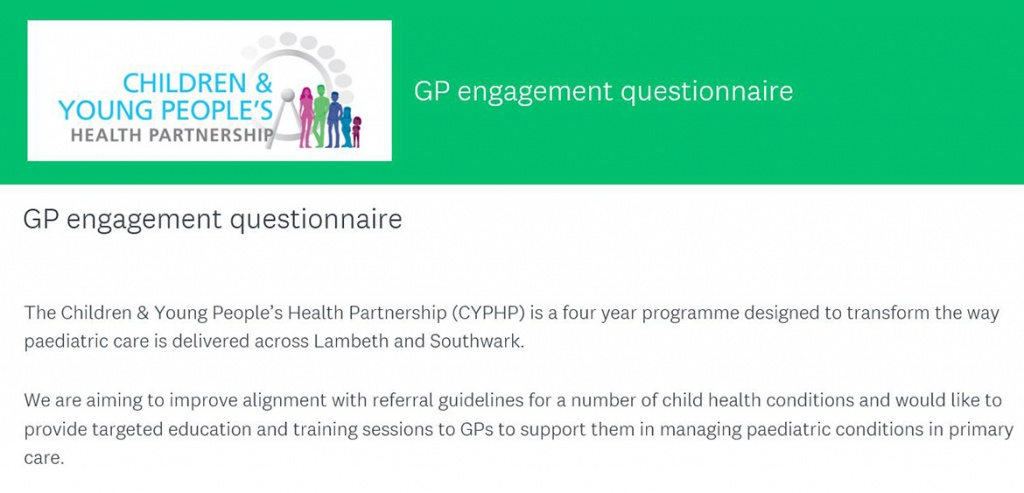 Referral guidelines GP questionnaire