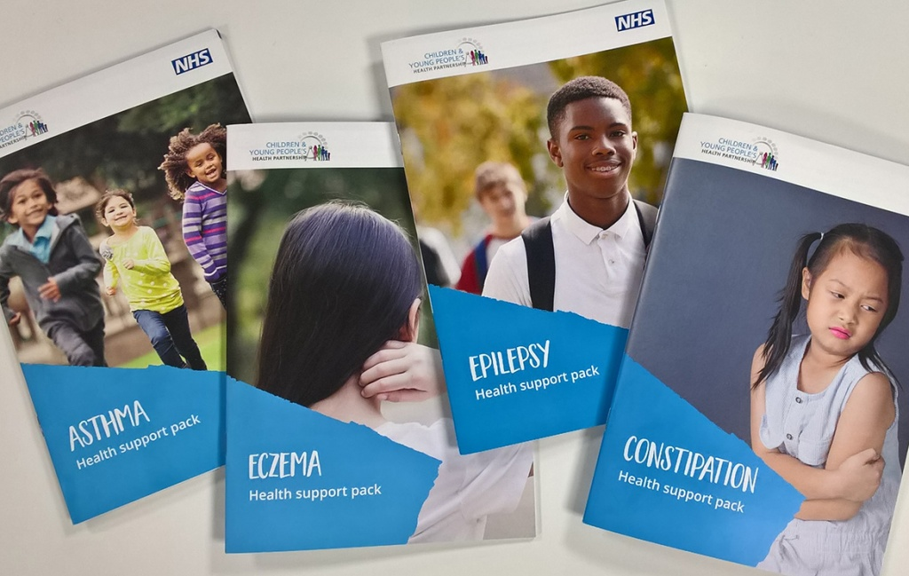Four Health Support Pack booklets