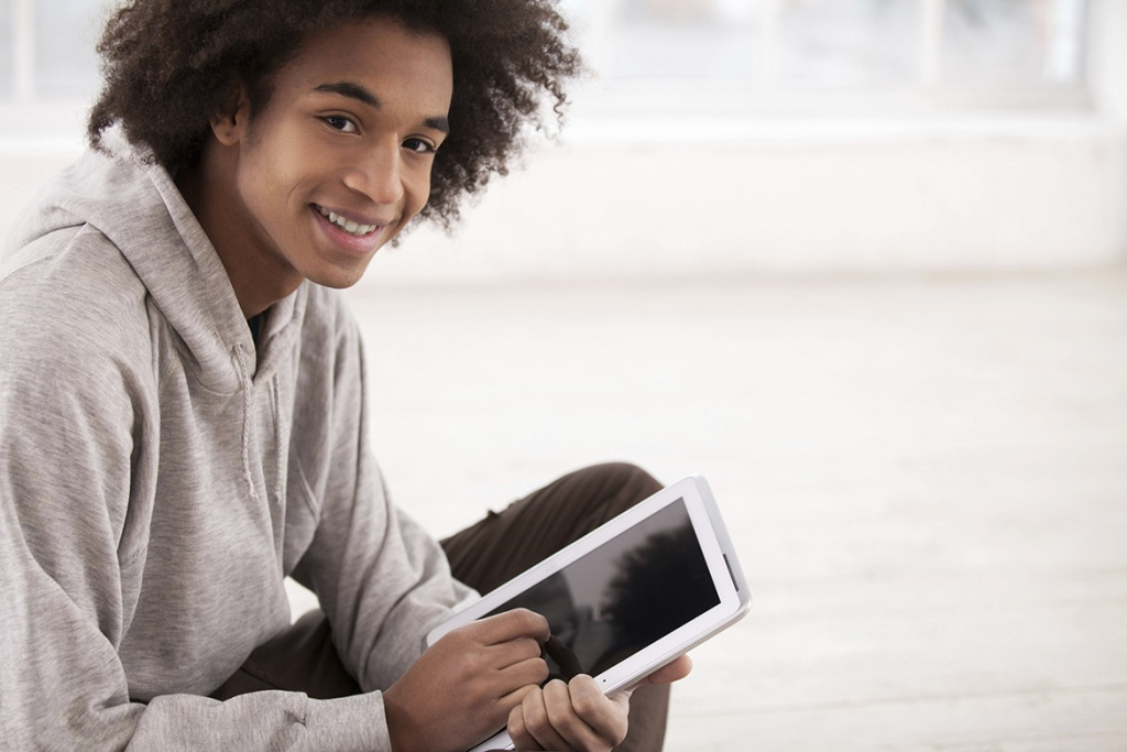 Teenage boy with tablet
